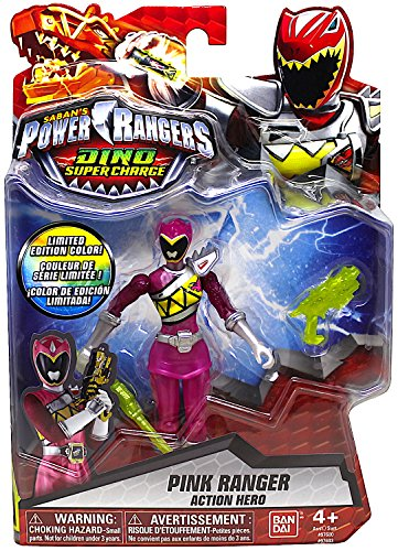 Power Rangers Dino Super Charge Limited Edition Color Metallic Pink Ranger (Power Rangers Dino Charge Pink compare prices)