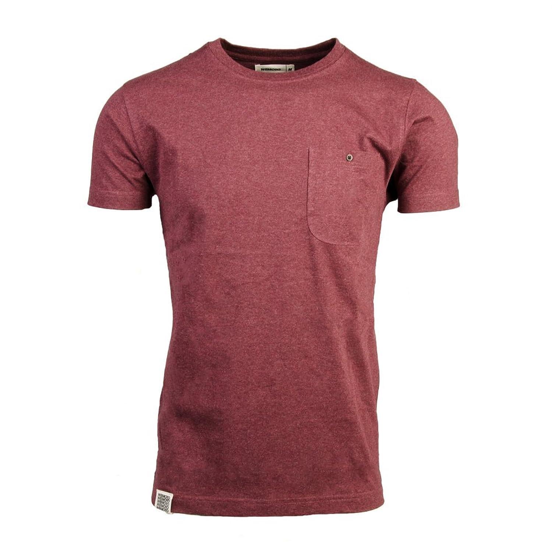Wemoto Blake T-Shirt in Burgundy Melange burgundy met 1 2 in x150