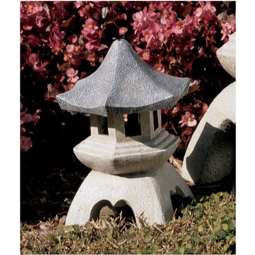 "10.5"" Asian Chinese Pagoda Lantern Sculptures Statue Lantern"