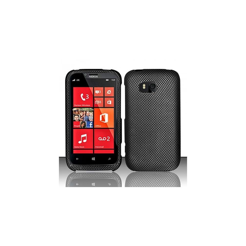 Black Carbon Fiber Hard Cover Case for Nokia Lumia 822 Cell Phones & Accessories