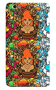 Omnam Girl In Three Pose Effect Printed Designer Back Cover Case For Gionee S6