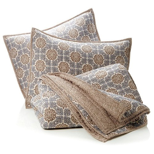India Hicks Exotic Coconut 100% Cotton 3-Piece Coverlet Set King front-136964