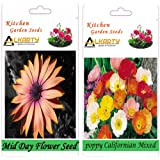 Alkarty Mid Day And Poppy California Mixed Seeds Pack Of 20 (Winter)