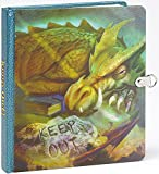 NEW! Keep Out! Dragon Picture-Changing Cover Lock & Key Diary
