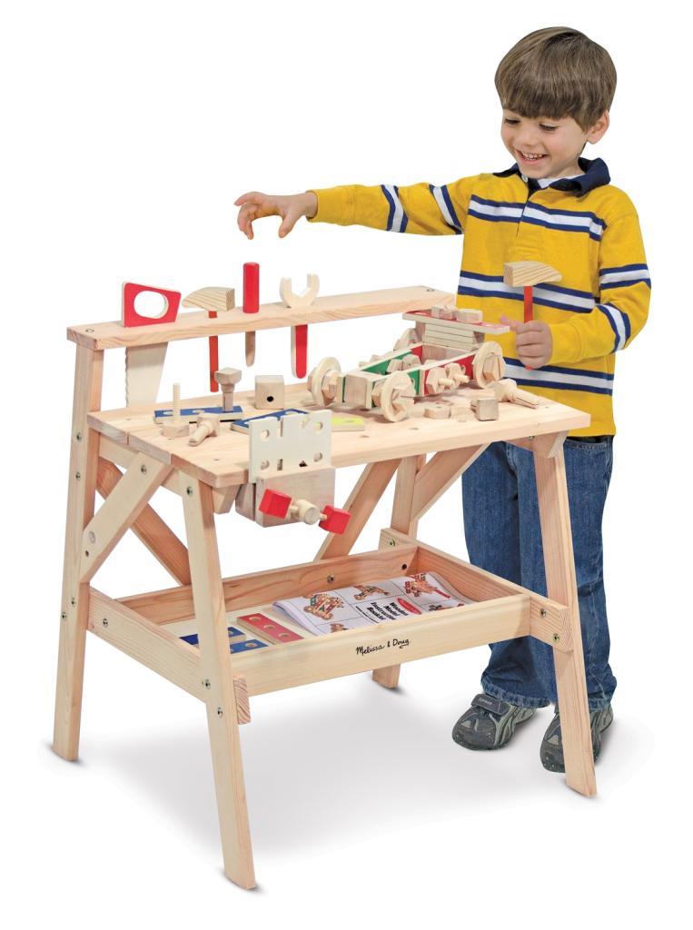 Melissa Doug Wooden Tool Work Bench Construction Box Set Early Learning Building Ebay