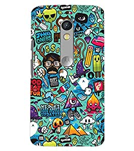 PrintDhaba NEW ERA ART D-6637 Back Case Cover for MOTOROLA MOTO X PLAY (Multi-Coloured)