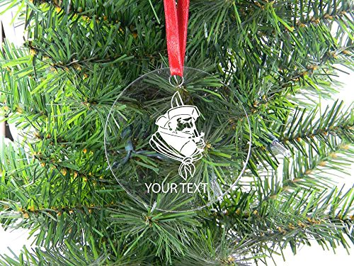 Personalized Custom Jet Ski Clear Acrylic Christmas Tree Holiday Ornament with Red Ribbon Perfect Customizable Holiday Gift or Birthday Present! Contact Seller for Text Personalization or Leave a Gift Message at Checkout!