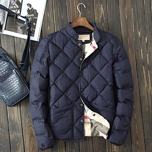 Botetrade Neuen Winter Herrenmode-Marken-Herren Daunenjacken Herren Cotton Padded Jacket Deep Blue XL