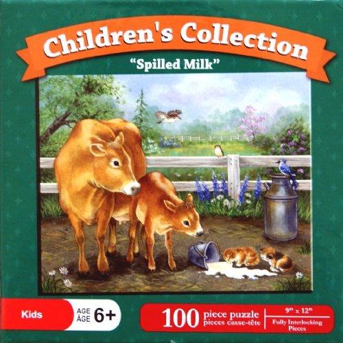 "Children's Collection Puzzle ""Spilled Milk"" 100 Piece Puzzle"