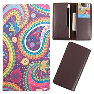 DooDa - For Lava iris 505 PU Leather Designer Fashionable Fancy Case Cover Pouch With Card & Cash Slots & Smooth Inner Velvet