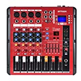 Ammoon-Bluetooth-Numrique-4-Canaux-Ligne-Audio-Mixer-Mic-Table-de-Mixage-2-Catgories-Dgalisation-avec-48-V-Alimentation-Phantom-Interface-USB-Enregistreur-tape-Karaok-pour-DJ