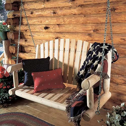 Buy Low Price RUSTIC NATURAL CEDAR Hanging Cedar Loveseat (26C)
