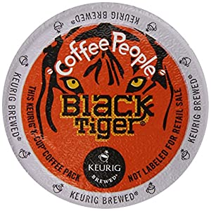 Coffee People Coffee Black Tiger Blend, K-Cup Portion Pack for Keurig Brewers, 96-Count