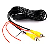 RCA Video Cable,Chuanganzhuo CAR Reverse Rear View Parking Camera Video Cable With Detection Wire (10 M/33 FT)