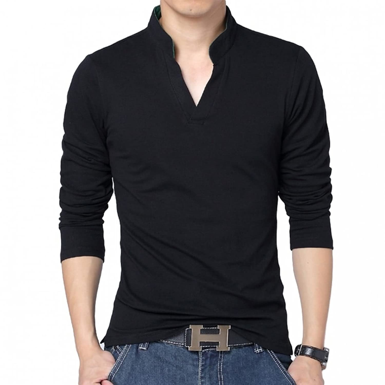 Black t shirt collar - Black Polo T Shirts Full Sleeves Tshirts For Men Amazon In Clothing Accessories