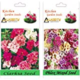 Alkarty Clarkia Mixed And Phlox Mixed Seeds Pack Of 20 (Winter)