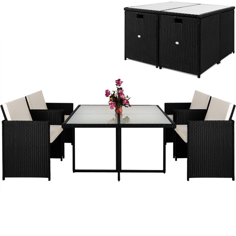 Poly Rattan 13 tlg Sitzgruppe Sitzgarnitur Gartenmöbel Lounge Rattan Gartenset Cube