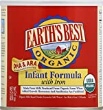 Earths Best Organic Infant Formula with Iron, 23.2 Ounce (Pack of 4)