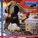 echange, troc Myaskovsky, Taneyev String Quartet - Complete String Quartet 2
