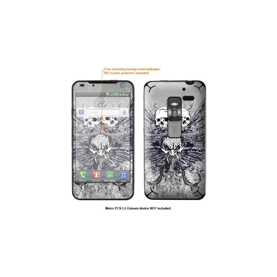 Protective Decal Skin Sticker for Metro PCS LG Esteem 4G case cover Esteem 437