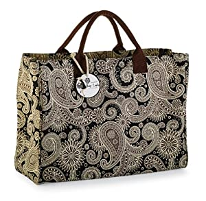 Mud Pie Black Paisley Essential Tote