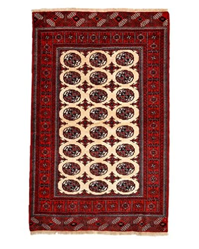 Solo Rugs Authentic Persian Rug, Red, 4' x 6'