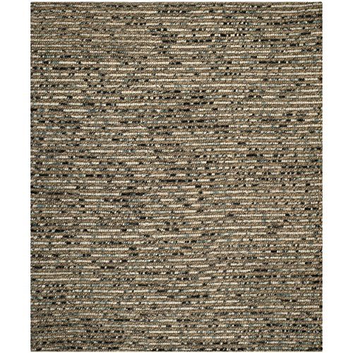 Safavieh Bohemian Collection BOH525A Hand-knotted Blue and Multi Hemp and Jute Area Rug, 8 feet by 10 feet (8' x 10')