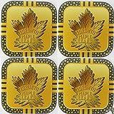 4 Toronto Maple Leafs NHL Licensed Gold Metal Drink Coasters