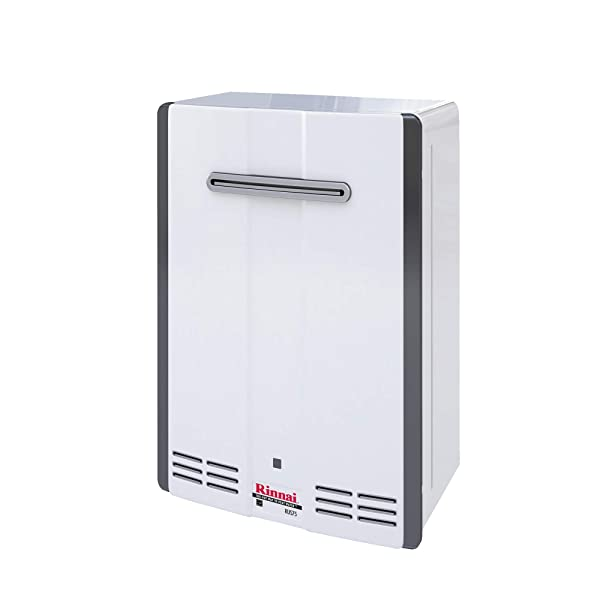 Rinnai V Series HE Tankless Hot Water Heater: Outdoor Installation (Color: V53DeN - Natural Gas/5.3 GPM)