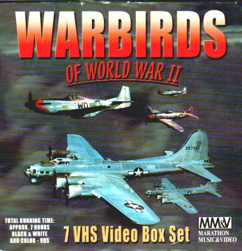 Warbirds of World War II - (7 VHS Video Box Set - 'B 17 - Flying Fortress', 'B 24 - Liberator', 'P 51 - Mustang', 'P 47 - Thunderbolt', 'Defenders of the Reich', 'R.A.F. Fighters', & 'Attack Air')