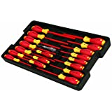 Wiha 32095 Slotted and Phillips Insulated Screwdriver Set, 1000 Volt, 19 Piece (Tamaño: 19)