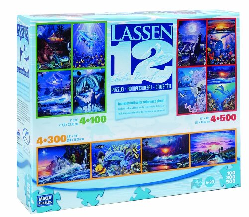 Cheap Mega Brands Lassen 12 in 1 Boxed Puzzles (B001DX6GBK)