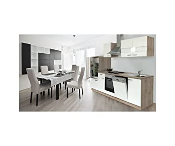 Cocina respekta vacío bloque de cocina bloque de 280 cm de madera de roble blanco LBKB280ESW