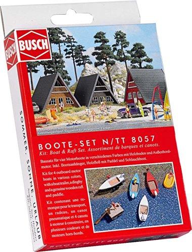 busch-8057-modellismo-set-di-barchette-e-gommoni-scala-n-tt