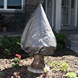 Sunnydaze Medium Tiered Fountain Cover, Grey, 63 Inch High x 49 Inch Diam