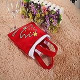 Alcoa Prime Christmas Decorations Plush Santa Bag Clothes Style Silverware Holders Pockets Dinner Decor Adornos...
