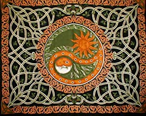 amazon com celtic celestial yin yang tapestry coverlet