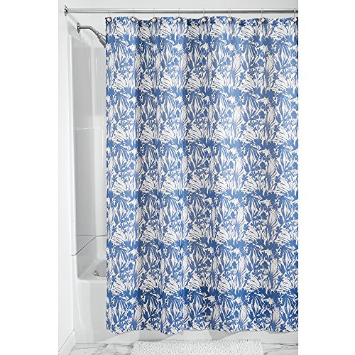 InterDesign 48520EU Floral Batik Tenda Doccia, 183 x 183 cm, Blu