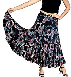 COTTON BREEZE Women's Printed Cotton Skirt