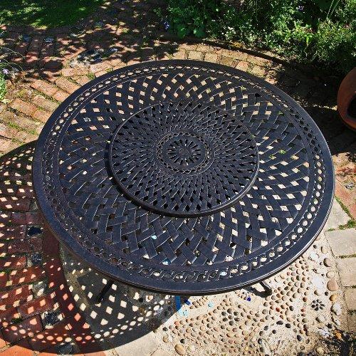 Olivia 180cm Rundes Gartenmöbelset Aluminium - 1 OLIVIA Tisch + 8 Emma SA Stühle