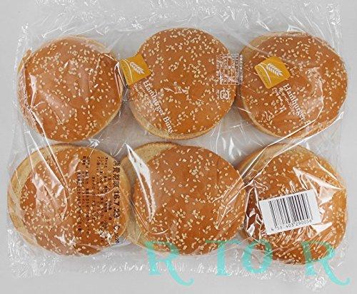 ビックバーガーバンズ 6個入り(ハンバーガー用パン) ごま付き BBQ・手作...