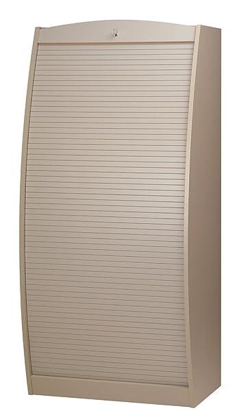 Simmob PARIS580TP armadio informatico curvo, in legno, 80 cm, colore: tortora