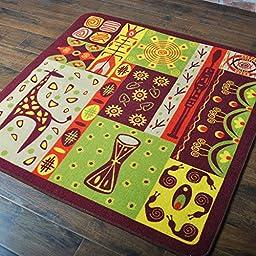 Creative Joker Square Super Soft Bedroom Room Carpet Cartoon Animals Children Play Solid Home Decorator Floor Rug Dee (5\'0x5\'0, deer)