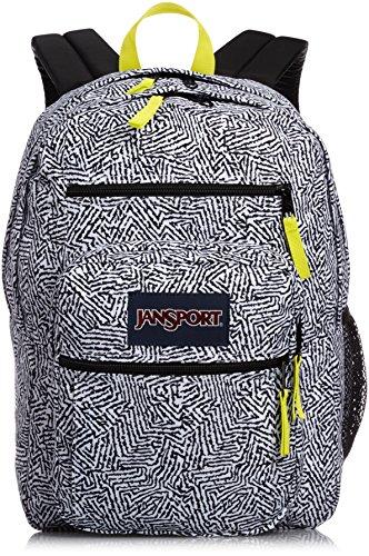 Jansport Big Student Backpack Blue Streak Painted Plaid