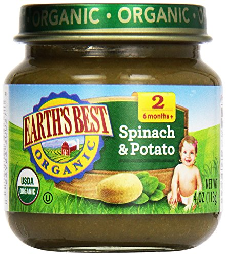 Earth'S Best, Spinach And Potatoes, 4 Oz front-1008131