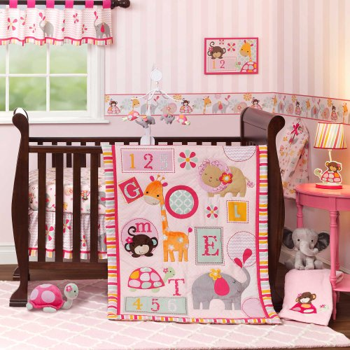 Jungle Crib Bedding 9578 back