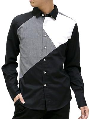 Bareback Realdress(ベアバックリアルドレス) シャツ アシンメトリー モノトーンシャツ メンズ