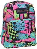 JanSport Classic SuperBreak Backpack, Black/Fluorescent Street Scene