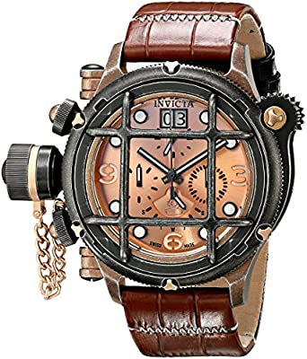 Invicta Men's 17354 Russian Diver Analog Display Swiss Quartz Brown Watch