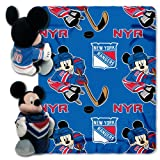NHL New York Rangers Ice Warriors 40x50-Inch Throw with 14-Inch Hugger